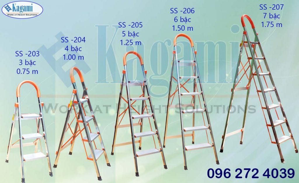 Phân loại các mẫu thang nhôm ghế tay vịn inox Kagami Nhật Bản nhập khẩu