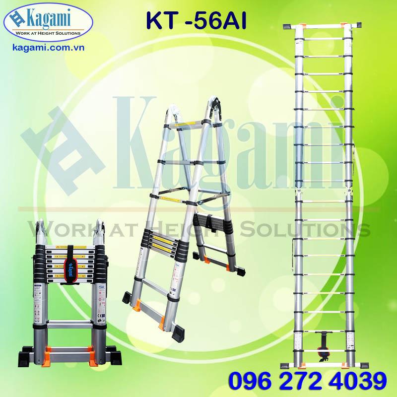 Đại lý thang nhôm rút gọn đôi chữ A 2m8 Kagami KT -56AI (5m6) chính hãng tại TP. Hồ Chí Minh giá tốt