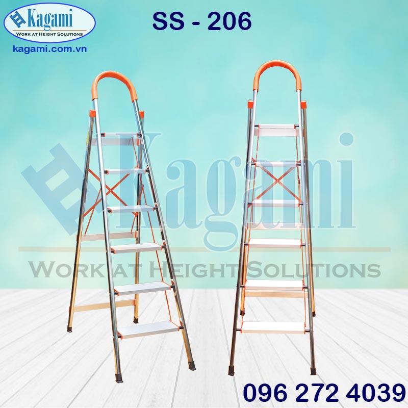 Các khu vực hỗ trợ giao hàng thang nhôm ghế tay vịn inox 6 bậc 1m50 Kagami SS -206 giá tốt