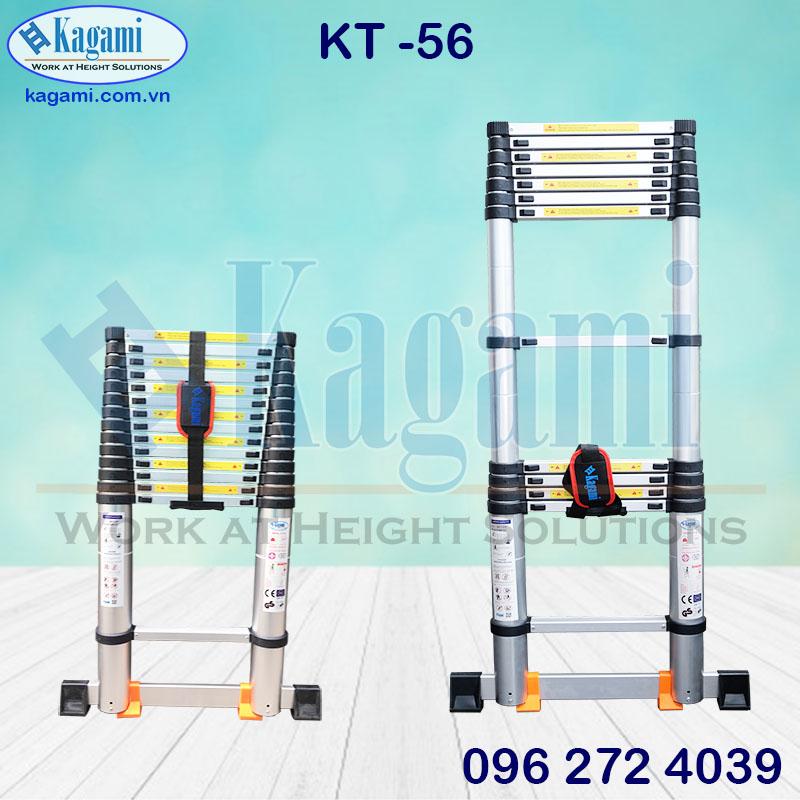 Thang Nhôm Rút Đơn 5m6 Kagami KT -56 Chính Hãng