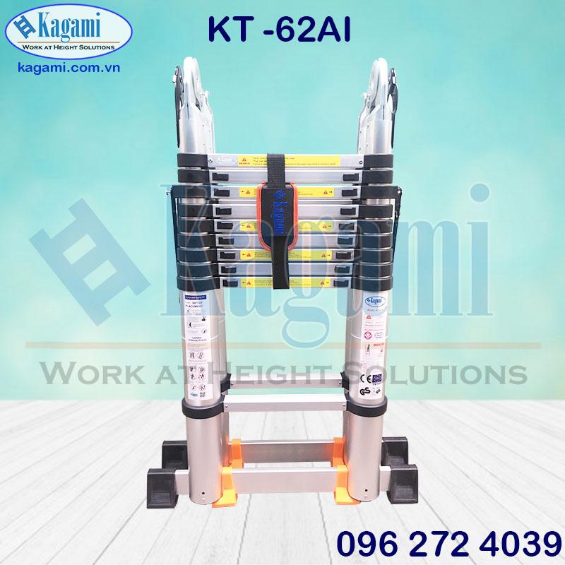 Đại lý thang nhôm rút đôi chữ A 3m2 Kagami KT -62AI (6m2) tại TP. Hồ Chí Minh