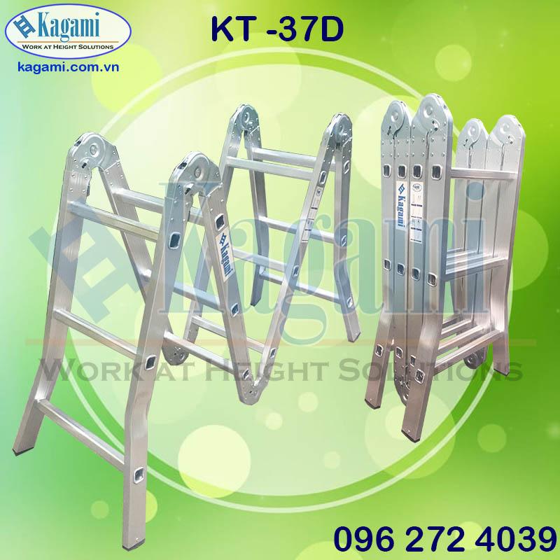 Đại lý thang nhôm gấp khúc xếp gọn 4 đoạn 3m7 chữ M Kagami Nhật Bản KT -37D giá tốt
